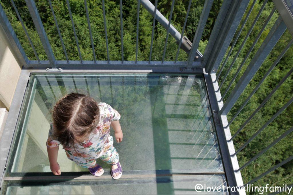 Wildpark Oberreith - Aussichtsturm, Glasboden