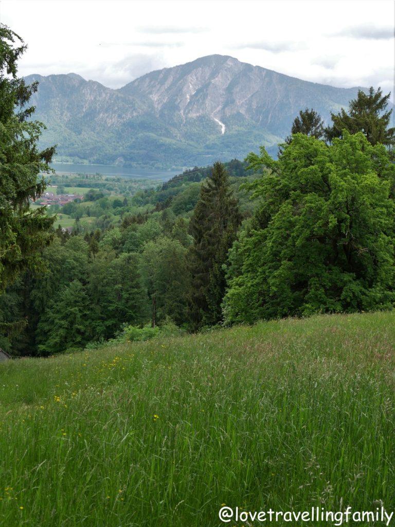 Panorama Freilichtmuseum Glentleiten Bayern mit Kind