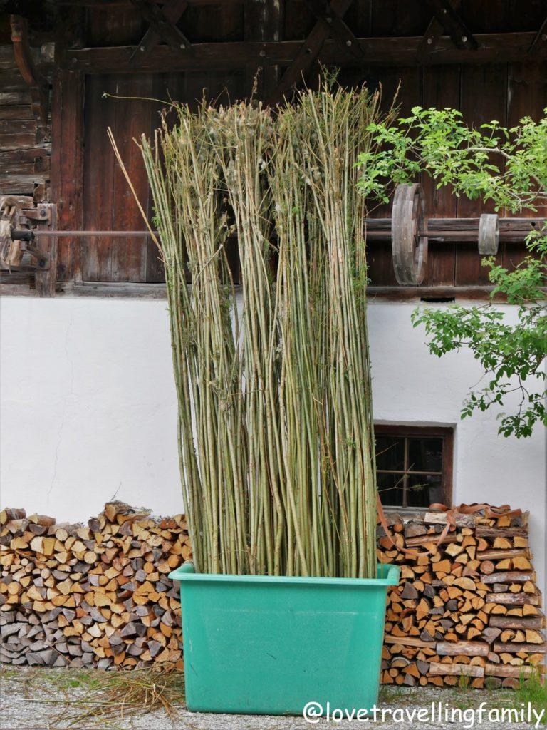 Weide Freilichtmuseum Glentleiten Bayern mit Kind