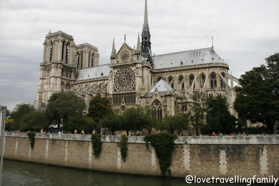 Notre Dame Cathedral, view from Seine River